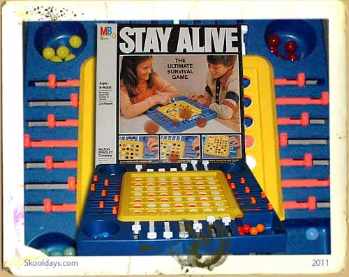 Stay Alive Milton Bradley Board Game