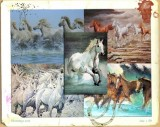 Wild horses painting