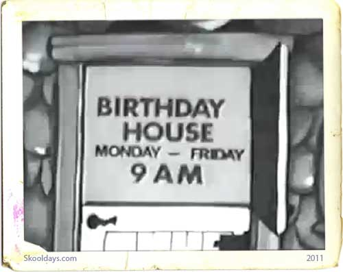 Birthday House 1960s TV series from Paul and Ruth Tripp - Saturday Morning Kids TV Shows