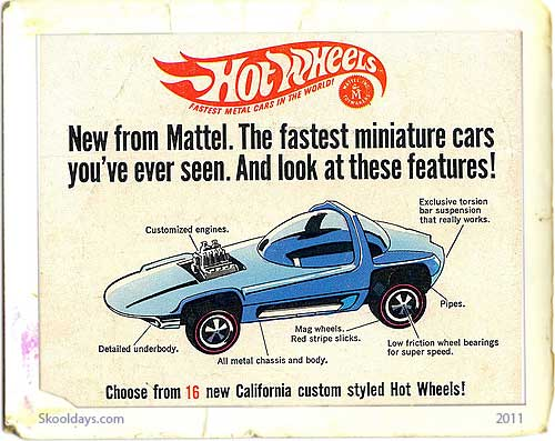 Hot Wheels die-cast cars