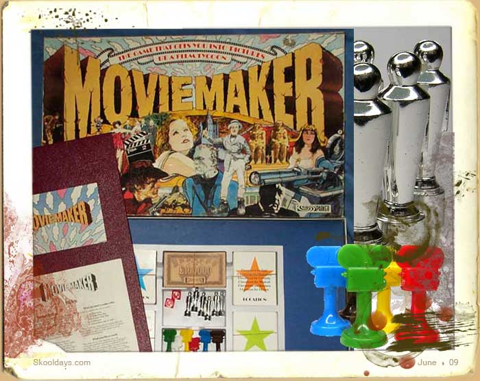 Location cards Movie Maker Parker board game spare pieces
