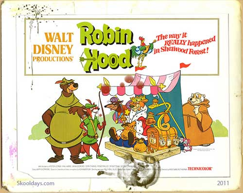 Robin Hood 1973 Cartoon