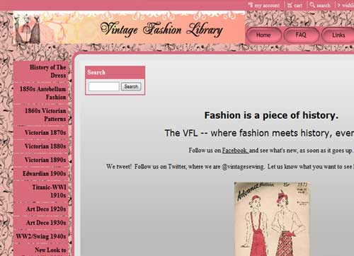 Vintage Fashion Library