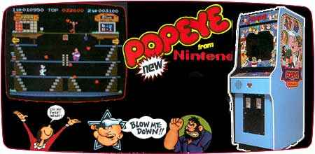 Pac Man Machine >> Popeye : Old Memories