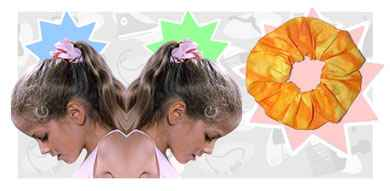 Scrunchies fashion accessory