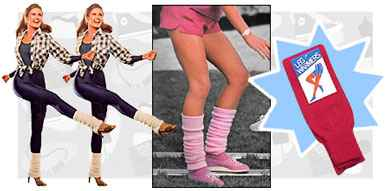 80s fashion - legwarmers